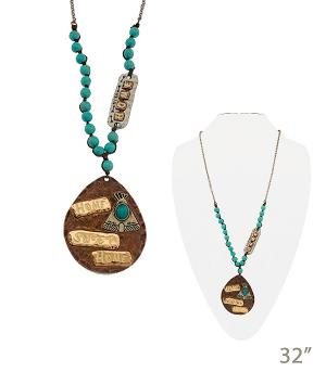 New Arrival :: Home Sweet Home Turquoise Necklace
