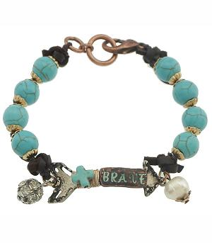 New Arrival :: Antiqued Arrow Turquoise Bracelet