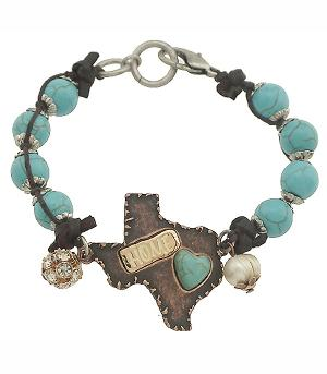 New Arrival :: Antiqued Texas Turquoise Bracelet