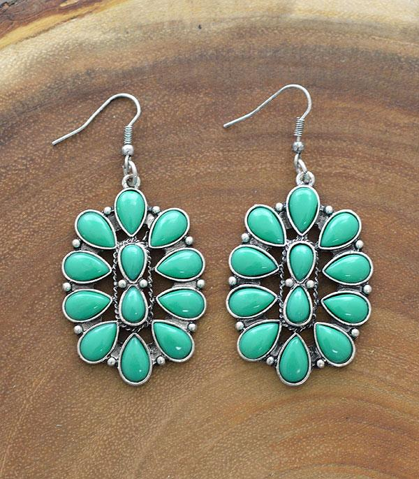 New Arrival :: Wholesale Tipi Turquoise Dangle Earrings