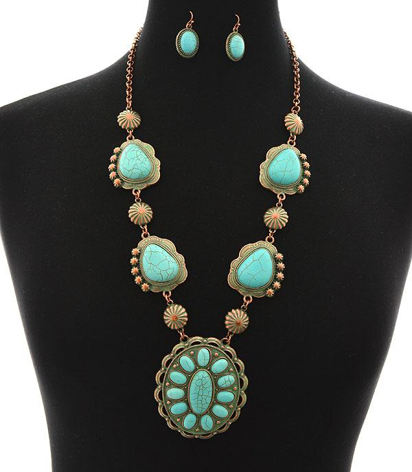 New Arrival :: Western Concho Necklace Set