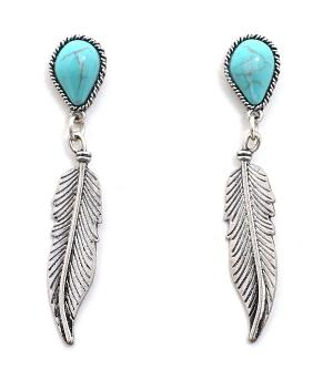 New Arrival :: Feather Dangle Earrings