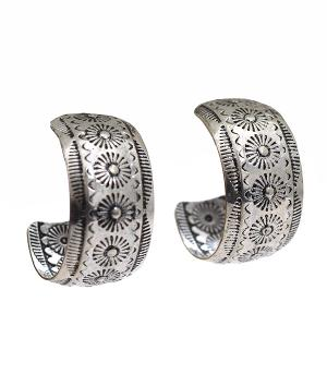 New Arrival :: Engraved Half Hoop Fashion Earrings