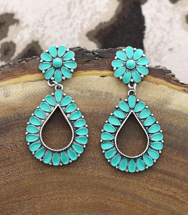 New Arrival :: Wholesale Western Teardrop Earrings