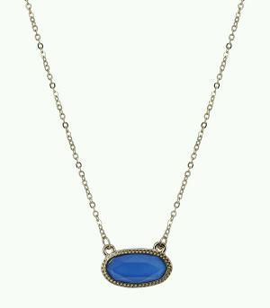 New Arrival :: Lacquer Oval Shape Necklace