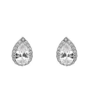 New Arrival :: Cubic Zirconia Teardrop Earrings