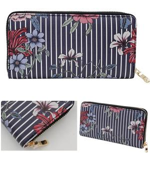 New Arrival :: Striped Floral Wallet