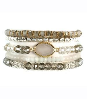 New Arrival :: Stackable Glass Bead Bracelet
