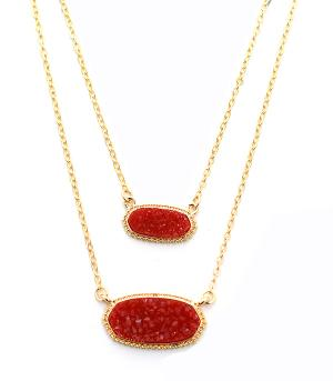 New Arrival :: Layered Druzy Necklace Set