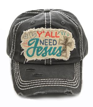 New Arrival :: Y'all Need Jesus Ballcap