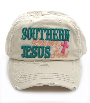 New Arrival :: Southern Raised & Jesus Saved Ballcap