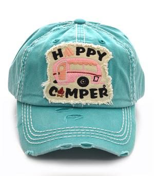 New Arrival :: Happy Camper Vintage Ball Cap