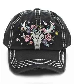 New Arrival :: Steer Head Embroidered Ballcap