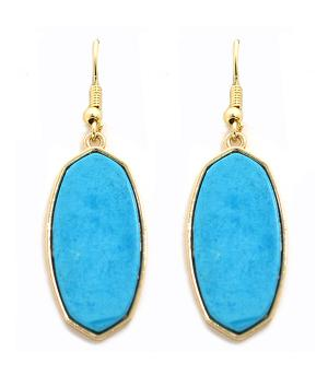 New Arrival :: Turquoise Stone Dangle Earrings