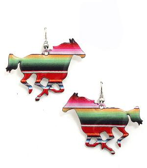 New Arrival :: Large Serape Horse Earrings