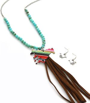 New Arrival :: Serape Horse Necklace Set