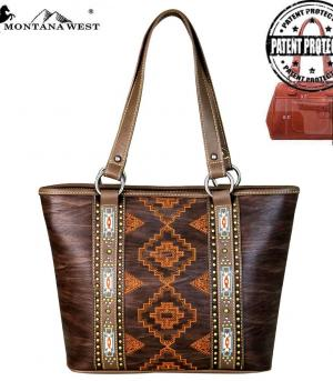 New Arrival :: Montana West Aztec Concealed Carry Tote