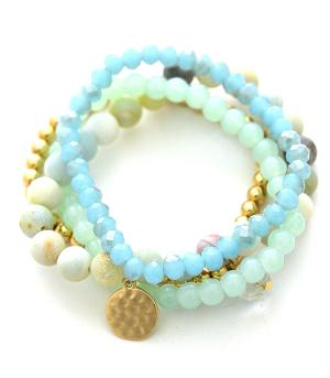 New Arrival :: Semi Precious Stone Bead Stackable Bracelet