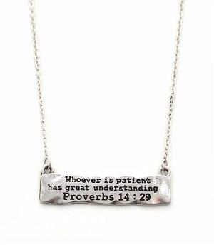 New Arrival :: Proverbs 14:29 Necklace Set
