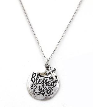 New Arrival :: Blessed Y'all Necklace Set