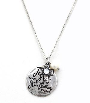 New Arrival :: Jesus Saved & Southern Raised Necklace Set