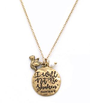 New Arrival :: Psalm 16:8 Necklace Set