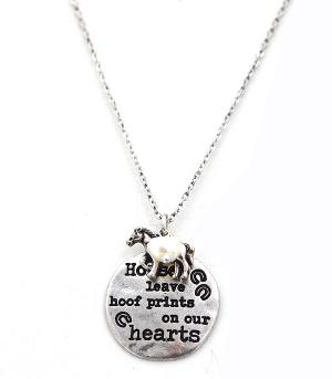 New Arrival :: Horses Leave Hoof Prints Necklace Set