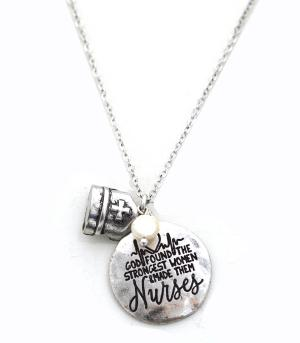 New Arrival :: God Found The Strongest Women Necklace Set