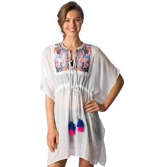New Arrival :: Embroidered Beach Cover Up