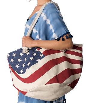New Arrival :: American Flag Beach Tote