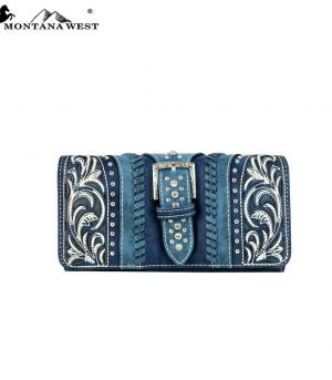 New Arrival :: Montana West Buckle Collection Wallet