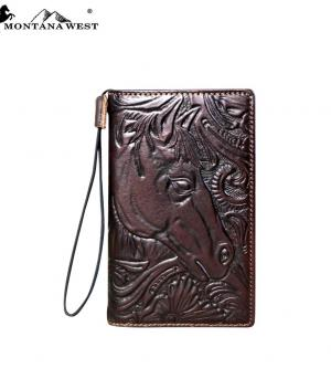 PHONE ACCESSORIES :: Montana West Tooled Collection Wallet