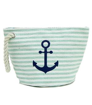 New Arrival :: Striped Anchor Beach Pouch