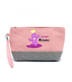TRAVEL :: DIAPER | TOILETRY | COSMETIC BAGS :: Summer Holiday Cactus Pouch