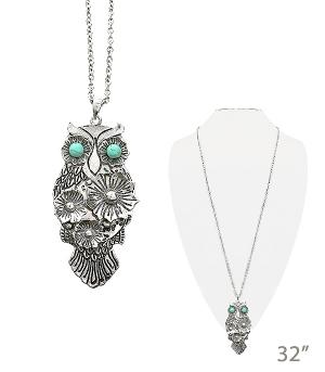 New Arrival :: Floral Owl Necklace