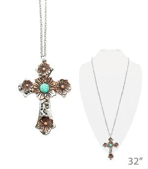 New Arrival :: Floral Cross Necklace