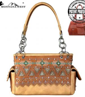 New Arrival :: Montana West Western Aztec Collection Satchel