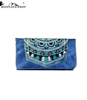New Arrival :: Montana West Embroidered Collection Wallet