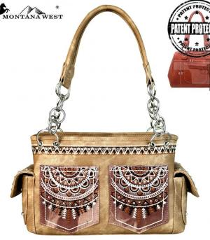 New Arrival :: Montana West Embroidered Collection Satchel
