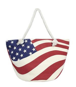 New Arrival :: American Flag Tote Bag