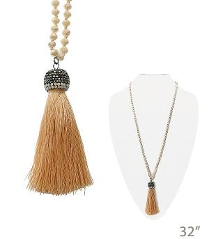 New Arrival :: Beaded Necklace w/Tassel Accent