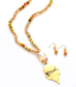 New Arrival :: Beaded Blessed Necklace Set