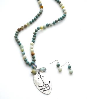New Arrival :: Beaded Anchor Necklace Set