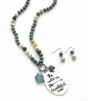 New Arrival :: He Calls Me Beautiful One Beaded Necklace Set