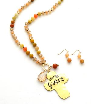 New Arrival :: Amazing Grace Beaded Necklace Set