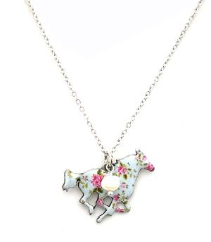 New Arrival :: Floral Horse Necklace Set