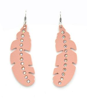 New Arrival :: Leather Feather Fashion Earrings
