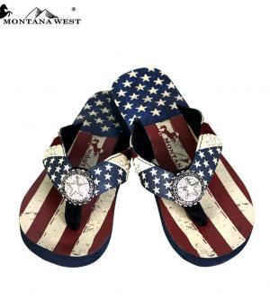 New Arrival :: Montana West American Pride Collection Flip Flops