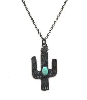 New Arrival :: Turquoise Accent Cactus Necklace Set