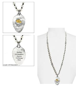 New Arrival :: Mom & Daughter Blessing Spoon Necklace